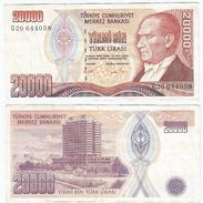Turquía - Turkey 20.000 Lirasi 1995 (L 1970) Firmas En Naranja Pick 202 Ref 880 - Turquia