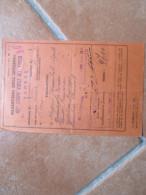 1942 Ministero Interno 88 Corpo Vigli Del Fuoco VARESE Timbro Tondo Firma Comandante Biglietto Ferroviario - Treni