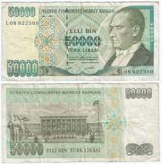 Turquía - Turkey 50.000 Lirasi 1995 (L 1970) Firmas En Verde Pick 204 Ref 884 - Turquia