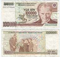 Turquía - Turkey 100.000 Lirasi 1991 (L1970) Pcik 205.b Ref 885 - Turquia