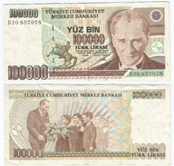 Turquía - Turkey 100.000 Lirasi 1991 (L1970) Pcik 205.b Ref 886 - Turquia
