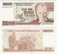 Turquía - Turkey 100.000 Lirasi 1997 (L1970) Pick 206(I) Ref 887 - Turquia