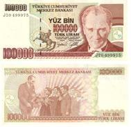 Turquía - Turkey 100.000 Lirasi 1997 (L1970) Pick 206(I) UNC - Turquia