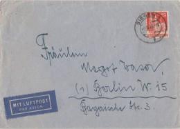 Bauten Brief Luftpost EF Minr.87wg Siegen 2.12.48 - Bizone
