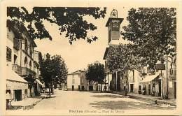 - Depts Div.-ref-JJ926 - Herault - Paulhan - Place Du Marche - Boucherie Charcuterie - Tabacs -  Magasin - Magasins - - Paulhan