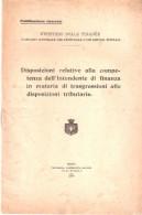 Fascicolo DISPOSIZIONE COMPETENZA FINANZA TRIBUTARIA - Coop. Sociale Roma 1923 - Diritto Ed Economia