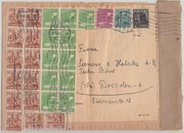 Gemeina. Brief Zehnfach Zittau 28.6.48 Gel. Nach Dresden - Gemeinschaftsausgaben