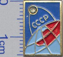 6 Space Soviet Russia Pin. FIRST SPUTNIK - Raumfahrt
