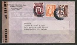 PERU  1944 COMMERCIAL CENSOR COVER To PHILADELPHIA, U.S.A. - Peru