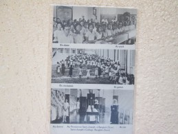 AU PENSIONNAT SAINT JOSEPH  A BANGKOK . SIAM . EN CLASSE . EN RECREATION . AU DORTOIR - Thailand