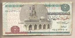 Egitto - Banconota Circolata Da 5 Sterline P-63a - 2002 - Egypt