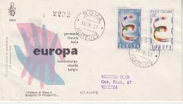 Europa Cept 1957 Italy 2v FDC (F5642) - Europa-CEPT