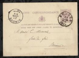 ENTIER POSTAL . CARTE CORRESPONDANCE . 21 JUIN 1877 . - Entiers Postaux