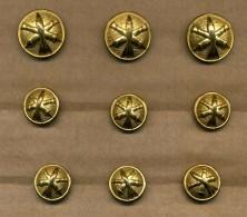 9 Boutons Artillerie - Boutons
