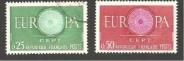 FRANCE - EUROPA - 1960. Y&T N° 1266 à 1267 Oblitérés - France