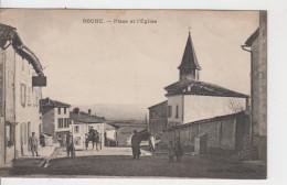 38 - ROCHE / PLACE ET L'EGLISE - Other Municipalities