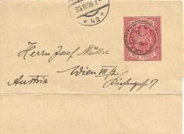 Antigua 1908 St. Johns Second Type Newspaper Wrapper To Vienna. Rare! - Antigua Und Barbuda (1981-...)