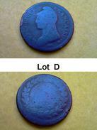 Lot D - 1 Décime ? - An 5 à 7 ? - FRANCE - Roi - Pièce Monnaie - 1796 à 1801 - Francia