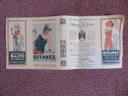 """COUVRE-LIVRE  """"  LA FLAMME  """"  PUBLICITE LIBRAIRIE V. TUJAGUE à BIARRITZ 64 - CIGARETTES GITANES BALTO TABAC  VOIR SCANS - Tobacco"""
