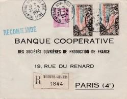 Sur Recommandée De Montreuil Sous Bois (Seine),Yvert  811 Marianne De Gandon Et  981.  Ajaccio    Pour Paris - 1921-1960: Modern Period