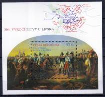 Tschechien Block '200 J. Völkerschlacht, Napoleon' / Czech Rep. M/s '200th Ann. Of The Battle Of Leipzig' **/MNH 2013 - Napoléon