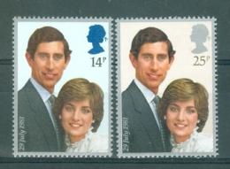 GREAT BRITAIN - Mi. Nr 884/885 - Charles En Diana - MNH** - 1952-.... (Elizabeth II)