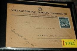 GS-Y382 Brief Innsbruck 26.9.1947, Tyrolia Verlag AG - Ohne Zuordnung