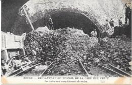 76 - ROUEN - Eboulement Du Tunnel De La Gare, Rue Verte -Les Voies Sont Complètement Obstruées 1 - Rouen