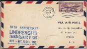 USA  -  CHARLES LINDBERGH -  Fifth Anniversary Lindbergh´s Transatlantic Flight  1932 - Avions