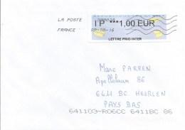 France 2016 Chemilly Sur Yonne EMA Avions En Papier Lettre Prio Inter Cover - 2000 «Avions En Papier»