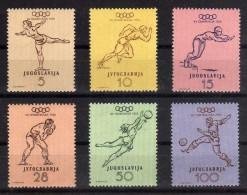 1952 - Yugoslavia - JJOO De Helsinsky - Sc. 359-364 - MNH - YU-052 - 02
