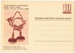 MUS-L49 - SUISSE Entier Postal Illustré Cor Postal - Musique