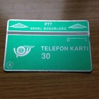L&G Card Turkey / Türkei 30 Units From 1991  - Fine Used - Nr. 109B - Türkei