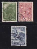 DENMARK, 1947, Used Stamp(s), Freedom,  Mi 295-297, #10056, Complete - 1913-47 (Christian X)