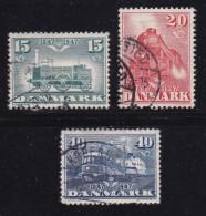 DENMARK, 1947, Used Stamp(s), Danish Railways,  Mi 298-300, #10057, Complete - 1913-47 (Christian X)