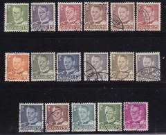 DENMARK, 1948, Used Stamp(s), Frederik IX,  Mi 302-318, #10058, 17 Values - Denmark