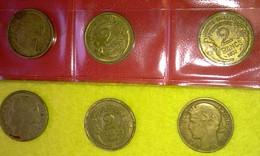 Lot 59 - 2 Francs MORLON - FRANCE - 15 Pièces Monnaie - 1931 à 1941 - Valeur 39 € - Francia