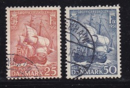 "DENMARK, 1951, Used Stamp(s), ""HAKON""Sailingship,  Mi 323-324, #10059, Complete - Denmark"