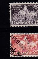 DENMARK, 1951, Used Stamp(s), Postal Coach,  Mi 326-327, #10060, Complete - Denmark