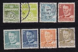 DENMARK, 1952, Used Stamp(s), Definitives,  Mi 332-338, #10062, Complete - Denmark