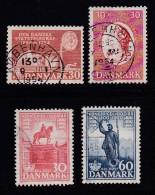 DENMARK, 1954, Used Stamp(s), Various Stamps,  Mi 351=357 #10068,  4 Values - Denmark