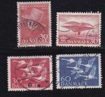DENMARK, 1955, Used Stamp(s), Various Stamps,  Mi 362-365, #10070,  4 Values - Denmark