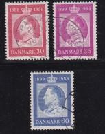 DENMARK, 1959, Used Stamp(s), Frederik IX,  Mi 371-373, #10072,  Complete - Denmark