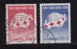 DENMARK, 1959, Used Stamp(s), Red Cross, MI 375-376, #10074, Complete - Denmark