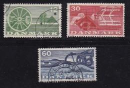 DENMARK, 1960, Used Stamp(s), Agricultural, MI 378-380, #10075, Complete - Denmark