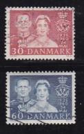 DENMARK, 1960, Used Stamp(s), Wedding Anniversary, MI 381-382, #10076, Complete - Denmark