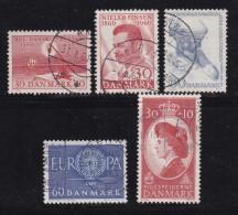 DENMARK, 1960, Used Stamp(s), Various Stamps, MI 383-387 , #10077, 5 Values - Denmark