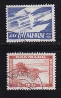 DENMARK, 1961, Used Stamp(s), Various Stamps, MI 388-389 , #10078, 2 Values - Denmark