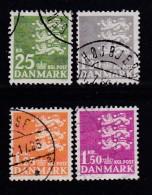 DENMARK, 1962, Used Stamp(s), Definitives, MI 399-402 , #10080, 4 Values - Denmark
