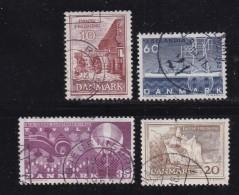 DENMARK, 1962, Used Stamp(s), Various Stamps, MI 404=408 , #10081, 4 Values - Denmark